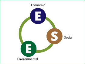 Thee dimensions of sustainability