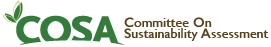 COSA | Committee on Sustainability Assessment Mobile Retina Logo